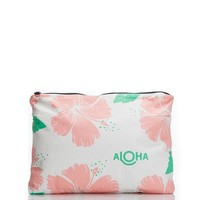 ALOHA Collection - Medium Hibiscus Pouch | Guava