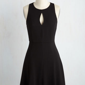 Keen About Keyholes Dress in Black | Mod Retro Vintage Dresses | ModCloth.com