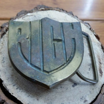 Vintage Solid Brass Rich Belt Buckle Guy Best Man Groomsmen Fathers Day Gift Fashion Style Accessory