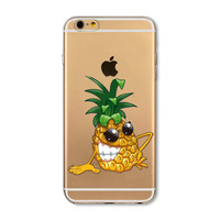 Funny pineapple mobile phone case for iphone 5 5s SE 6 6s 6 plus 6s plus + Nice gift box 072701