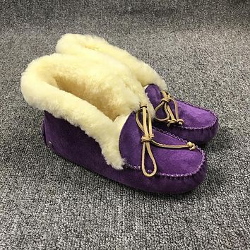 Best Deal Online UGG Slippers ALENA Women Purple Shoes 1004806