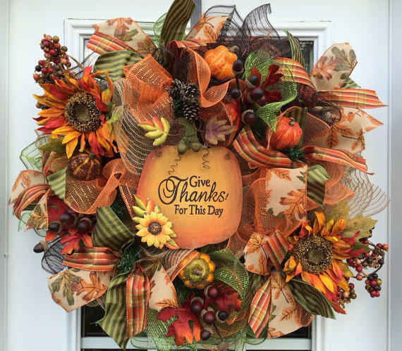 Deluxe Fall Mesh Wreath Fall Deco Mesh From Shellyschicdesigns