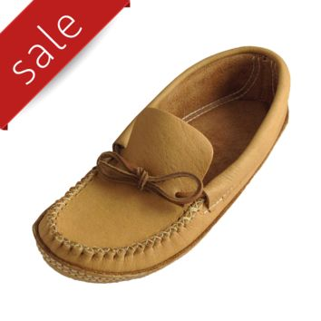 Men's Soft-Sole Moosehide Leather Moccasins B489