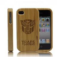 Handmade Eco-friendly Bamboo iPhone4/4S Case-Transformers by Julyjoy