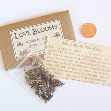 Shop Wedding Favor Seed Packets On Wanelo