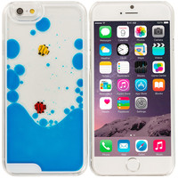 Blue Fish Tank 3D Liquid Moving Gel Case Cover for Apple iPhone 6 Plus (5.5)