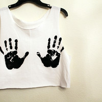 Hands crop shirt