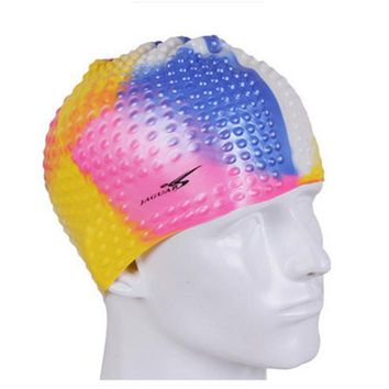 New Men Waterproof Ear Protection Swimming Hat Silicone Comfortable Swimming Cap