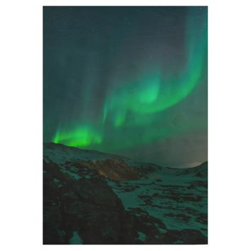 Northen Lights In Alaska Photography Wood Poster