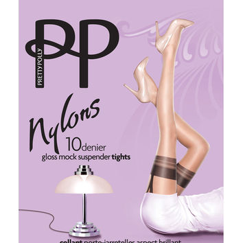 10 Denier Gloss Mock Suspender Tights