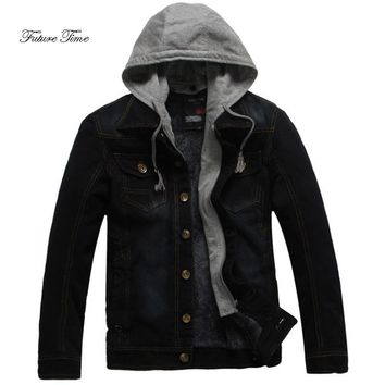 Trendy Men Hoodies Autumn England Style Plus Size Denim Jacket Fashion Solid Hoodie Male Casual Hooded Coat Cowboy Jacket WY082 AT_94_13