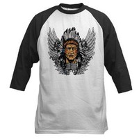 Indian Chief Wings Baseball Jersey
