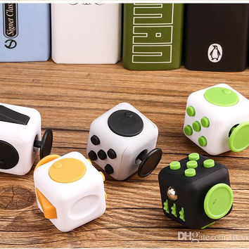 Fidget Cube Desk Toy Camo Fidget Dice Relieves Stress and Anxiety for Children and Adults Fingertip Cube Under 2 Dollars DHL Fast Shipping