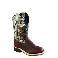 Old West Children's Corona Broad Square Toe Camo Cowboy Boots