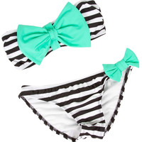 Striped Bow Bikini