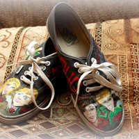 R5 Hand Painted Vans TOMS