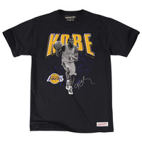 Kobe Bryant Los Angeles Lakers Mitchell & Ness Black & White Photo T-Shirt - Black