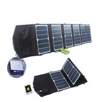 39w 18v/5v Dual output waterproof outdoor foldable folding solar panel charger external 12v battery device charger PB005 T20