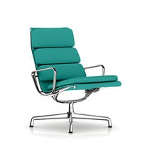 Eames Soft Pad Lounge Chair with Swivel, 3 Cushions