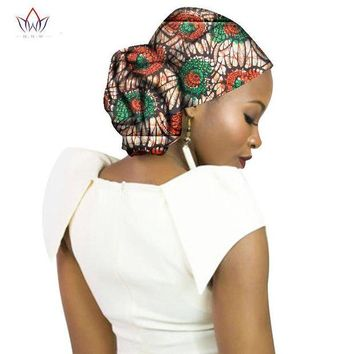 ONETOW Fashion 2017 New Style African Headwear For Women Ankara Headband Decorations Wrap Tie Scarf Africa Hair Accessories BRW WYB65