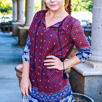 PREPPY PAISLEY CHIFFON DRESS