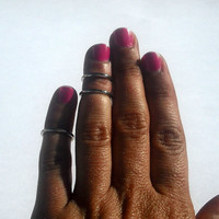 3 Above the Knuckle Rings - Silver Tone Above the Knuckle Rings - Silver Bands - Set of 3 - Knukle Ri