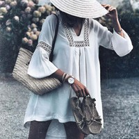 The Snowy Lace Blouse