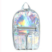 Holographic Mochila Masculina Borse Bag Backpack For Women Silver Hologram Laser Backpack Girls Bag Fashion Hot Sales