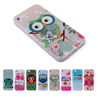 For Capinha Para iPhone 5S Case Cute Owls Cartoon Soft TPU Gel Case Cover for iPhone 5S 5/4 4S/IP 6 6S Capa Phone Cases Lovely