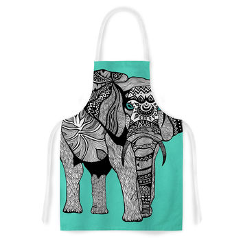 "Pom Graphic Design ""Elephant of Namibia Color"" Artistic Apron"