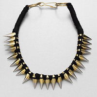 A.L.C. - Two-Tone Spiked Necklace