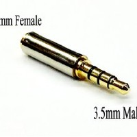 D & K Exclusives® Gold Plated 3.5mm Male to 2.5mm Female Headphone Audio Adapter Jack Stereo or Mono for Apple iPhone 3GS 4G 4S 5 Samsung Galaxy S3 S4 Galaxy Note 2 iPad 2 3 4 iPad Mini