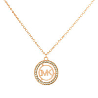 Gift New Arrival Jewelry Stylish Shiny Alloy Accessory Diamonds Alphabet Necklace [8573753677]