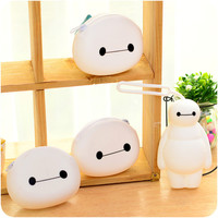Cartoons Silicone Zippers Storage Chain Wallet = 4877835716