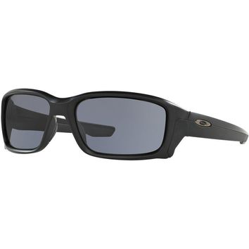 One-nice™ Oakley NEW GENUINE Straightlink Matte Black Grey Lens Adults Sunglasses