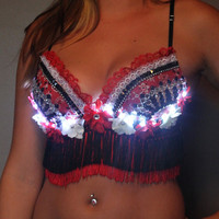 Red Queen Rave Bra- Rollin Titties