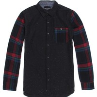 Modern Amusement Kearney Long Sleeve Woven Shirt - Mens Shirt - Black