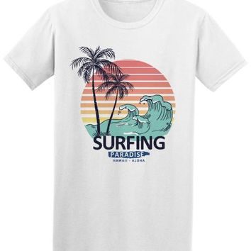 Surfing Surfer Slacker T-shirt Hawaii Aloha Surfinger Paradiise Vintage Tee Cute Tatoo Lover T-Shirt Fashion T Shirt Brand Low Price Round Neck Men Tees KO_12_1
