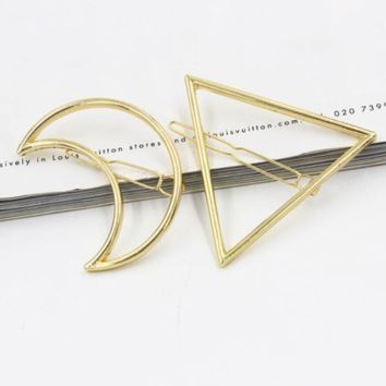 Gold Moon Hair Clip Hairpin