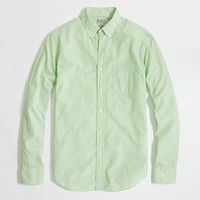 FACTORY WASHED SHIRT IN MICROSTRIPE
