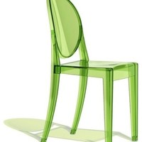 Victoria Ghost Chair, Set of 2, Transparent Green - modern - dining chairs - by Design Public
