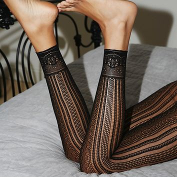 Free People Black Magic Footless Tights