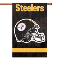 Steelers Applique Banner Flag