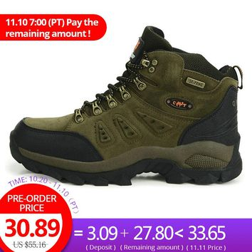 High Quality Unisex Hiking Shoes For Men Women High Cut Waterproof Hiking Boots Autumn Winter Trekking Mountain Climbing Shoes