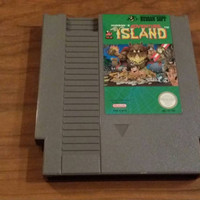 Adventure island Nintendo nes console system game -FREE SHIPPING - Christmas holiday gift