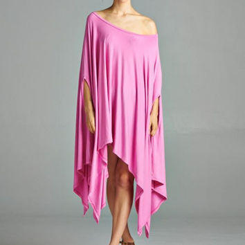 Cape Swing Top in Pink