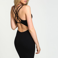 Strappy Criss Cross Bodycon Dress