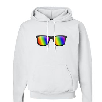 Pride Rainbow Lenses Hoodie Sweatshirt  by TooLoud