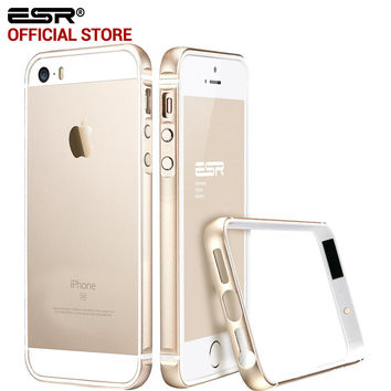 ESR Metal Frame Ultra Thin Aluminum Alloy Frame Soft bumper case for iPhone SE/5/5S