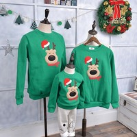 Family Clothing Sweater Christmas Deer Warm Outfits